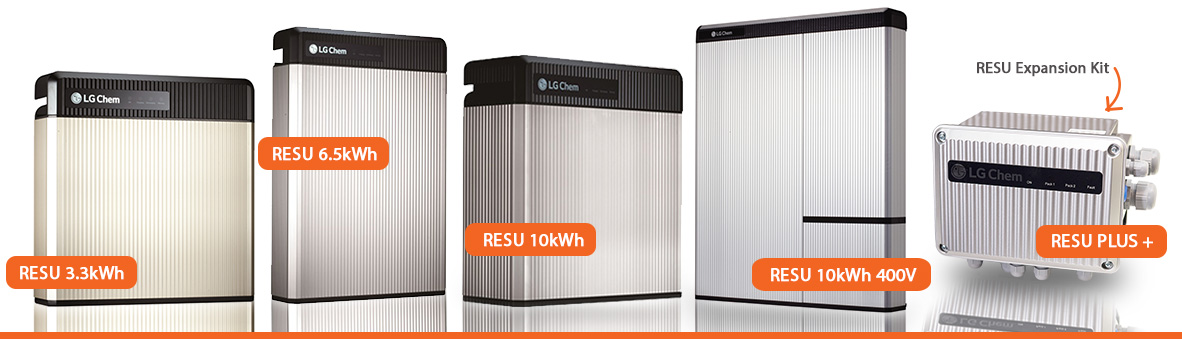 Find the LG Chem RESU Product Range at Battery Energy Storage Systems including the LG Chem resu 10